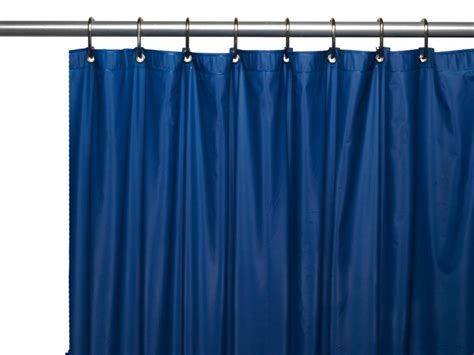 Navy extra long curtain for shower