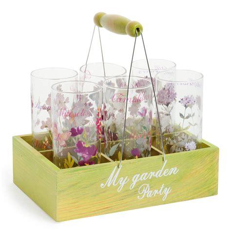 maison du monde bicchieri cestino 6 bicchieri in vetro garden maisons du monde