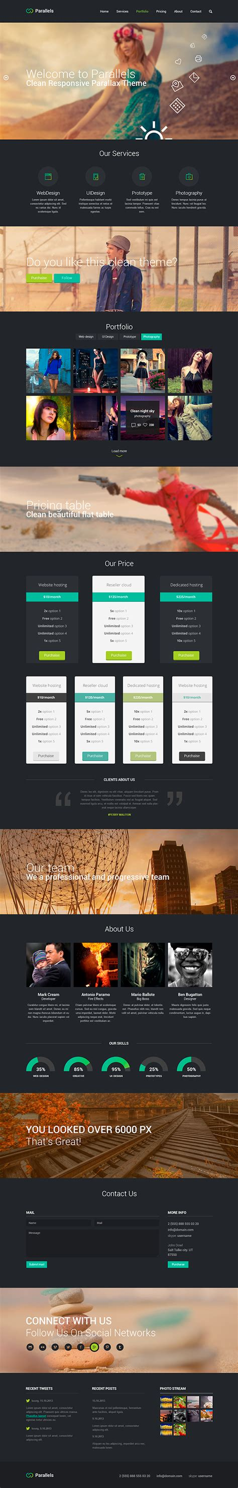 responsive layout psd free download free psd responsive template on behance