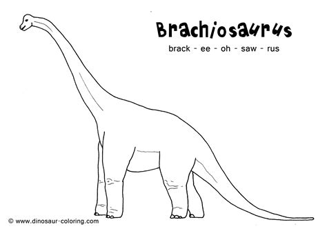 Brachiosaurus Coloring Page Brachiosaurus Coloring