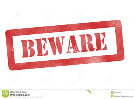 Sign In beware sign stock illustration image of construction