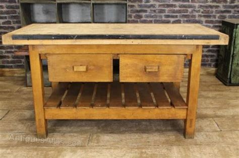 vintage kitchen island table antiques atlas vintage kitchen island work bench table