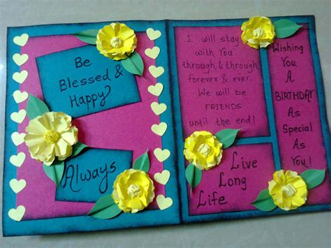 how to make cards for friends birthday greeting cards for happy birthday wishes for