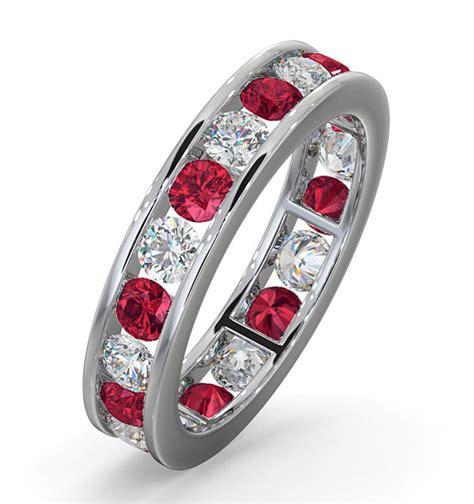 rubies vs diamonds worth eternity ring diamonds g vs and ruby 1 80ct 18k