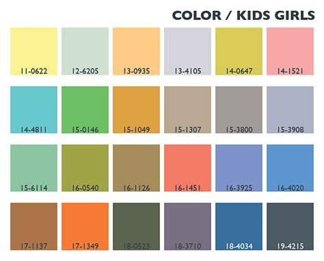 kids color pallette spring summer 2014 color trends evolution kids