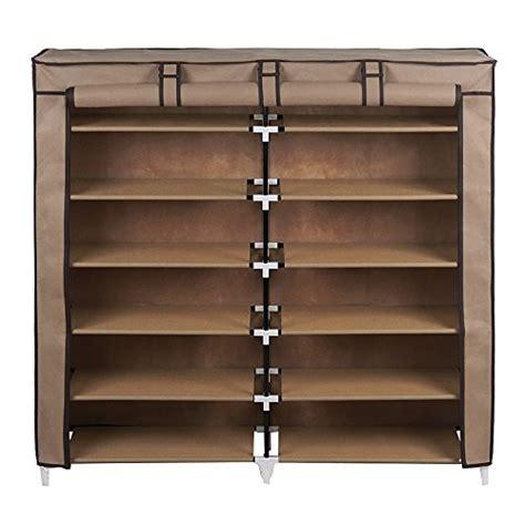 covered shoe storage songmics 7 tier shoe rack 36 pair shoe storage cabinet