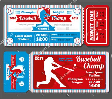 Free Place Card Sport Ticket Template by 9 Baseball Ticket Templates Free Psd Ai Vector Eps