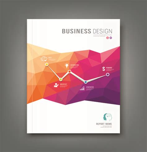 business cover abstract design vector free vector in