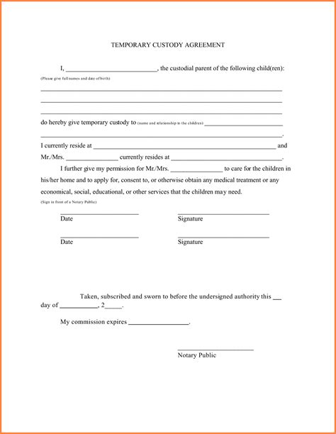 Letter Of Agreement For Travel how to write a guardianship letter for a minor jacob and