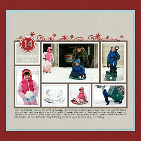 scrapbook layout four photos christmas scrapbook layouts at designerdigitals