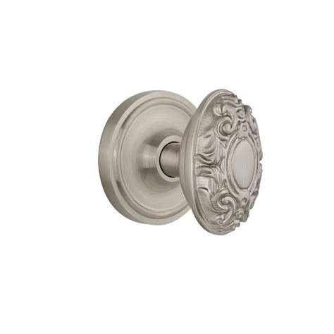 Satin Nickel Interior Door Knobs Prime Line 2 1 2 In Satin Nickel Door Knob Rosettes 2 Pack E 2542 The Home Depot