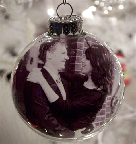 glass ball photo ornament set of 4 personalized