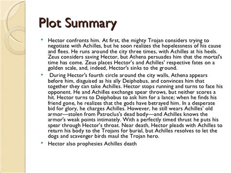 Iliad Story Outline the iliad of hector
