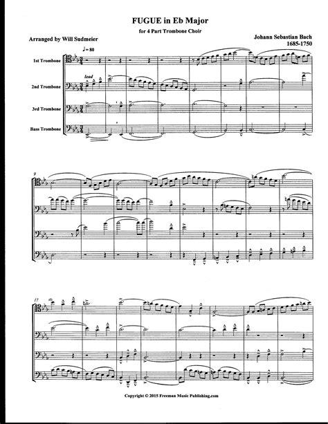 sections of a choir bach j s 4 part trbn choir