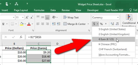 euro currency format javascript how to change the currency symbol for certain cells in excel