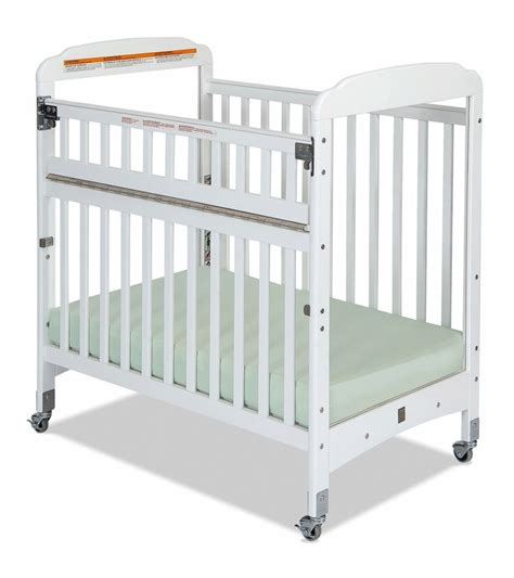 child craft safeaccess compact clearview crib in white