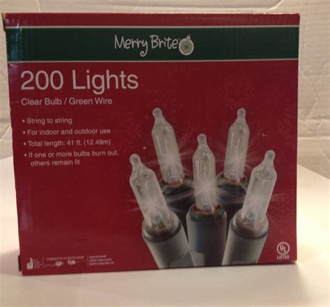 merry brite christmas lights white christmas lights 200 by merry brite holidayholic