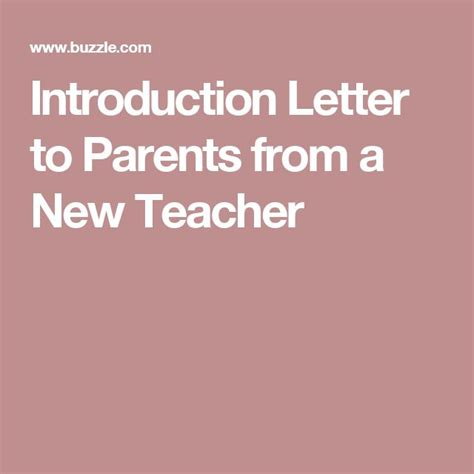 Introduction Letter Room Parent the 25 best introduction letter ideas on