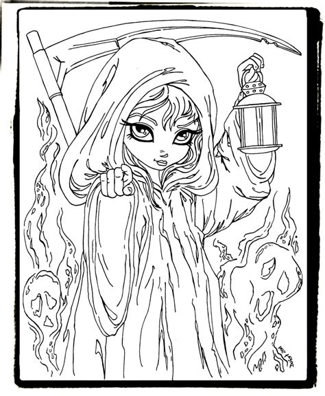 sexy female grim reaper coloring pages coloring pages