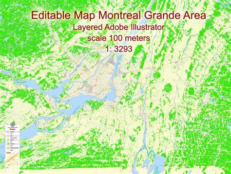 printable map montreal montreal grande area printable map canada exact vector