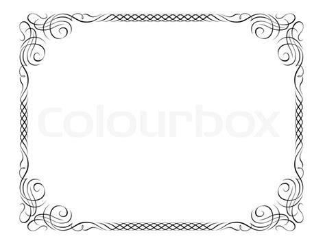 cornici powerpoint calligraphy ornamental decorative frame stock vector