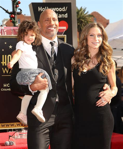 dwayne the rock johnson lauren hashian dwayne johnson s daughter adorably outshines him at star