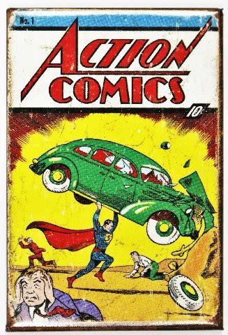 superman issue  fridge magnet vintage style comic book dc
