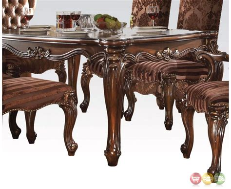 Cherry Oak Dining Table Versailles Traditional Scrolled 71 Quot Dining Table In Cherry Oak