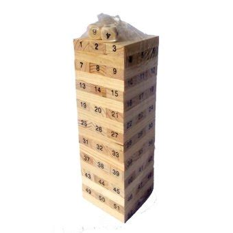 Mainan Wooden Uno Stacko momo wooden wiss toys stacko kayu 48 pcs jenga uno