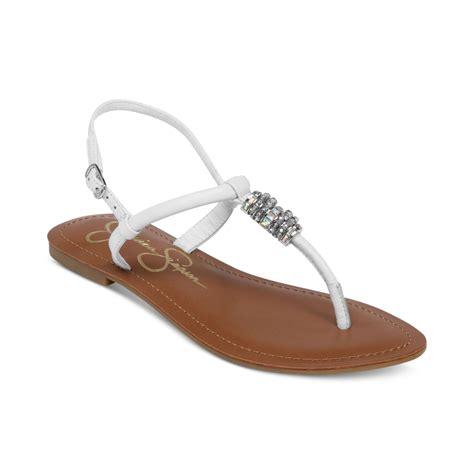white sandals flat lyst regattah flat sandals in white
