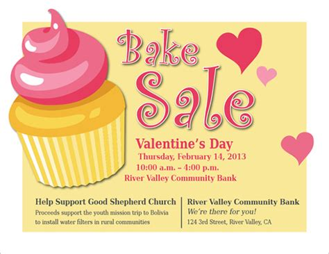 free bake sale flyer templates bake sale flyer template bake sale flyer