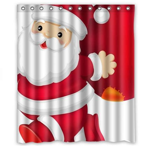 santa claus shower curtain custom christmas bath curtains fashion home decor