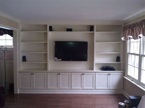 built in tv wall built in with wall hung tv traditional living room