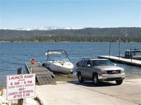 public boat launch big bear lake west boat r big bear
