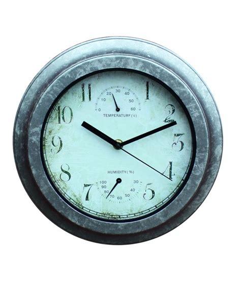 horloge exterieur horloge d ext 233 rieur effet galvanis 233 thermom 232 tre hygrom 232 tre 29 5cm 21 99