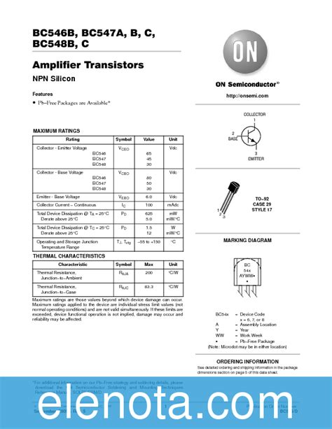 transistor bc548 datenblatt transistor bc546b datasheet 28 images bc547a datasheet pdf commmanager bc546b datasheet npn