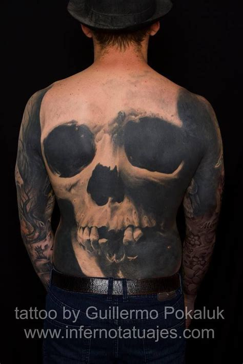 skull back tattoos pin by barbara schuckar on