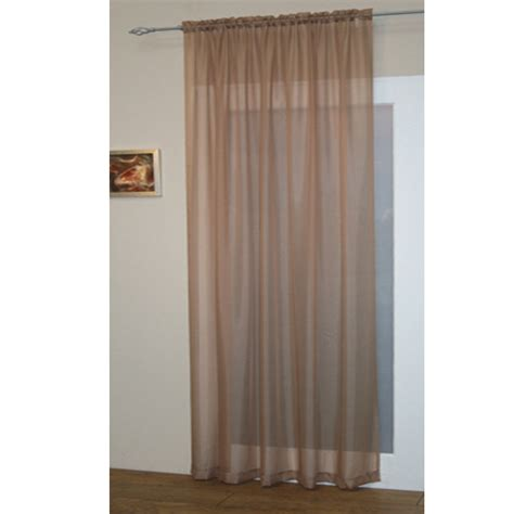 curtain pocket voile net curtain panel plain slot top rod pocket new ebay