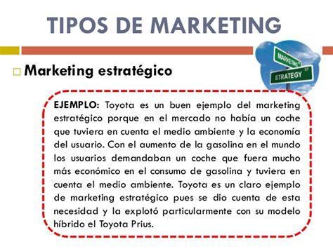 modelo de un plan de marketing estrategico tipos de marketing
