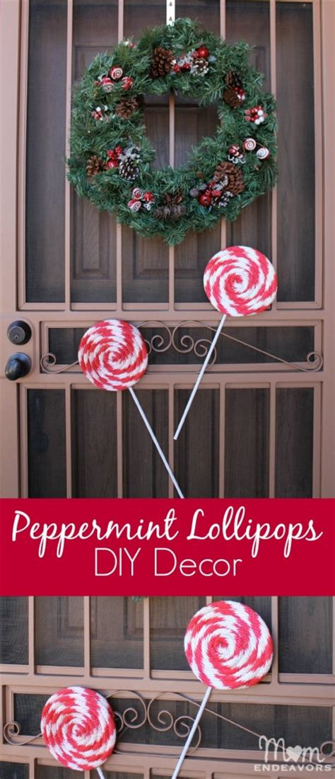 diy peppermint lollipops christmas decor