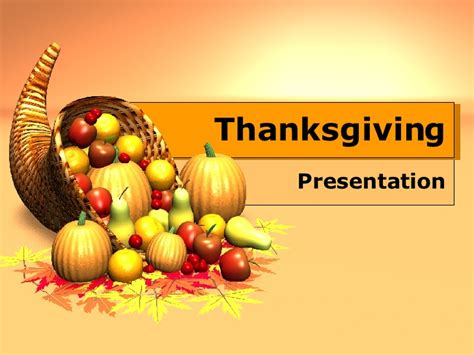 Thanksgiving Template Free Free Thanksgiving Powerpoint Templates