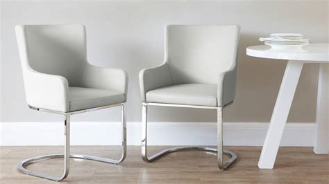 modern designer faux leather chrome armchair uk exclusive