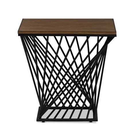 Wire Side Table Black Wire Wood Twist Side Table Modern Furniture Brickell Collection
