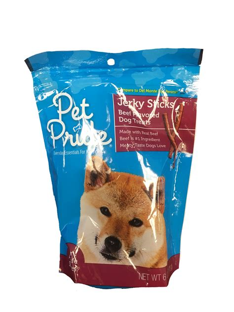 pride food pet pride beef flavored sticks treats clean label project