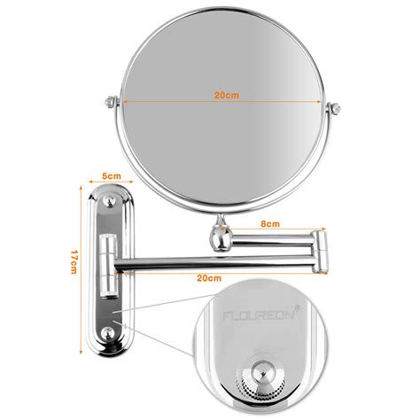 begrit bathroom makeup cosmetic mirror two sided wall 5x magnifying bathroom makeup cosmetic mirror double sided