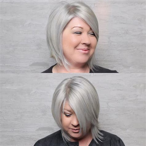 asymmetrical bob with a fat face 32 trendy hairstyles and haircuts for round face