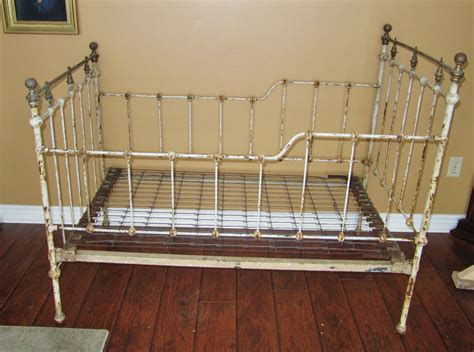 antique iron bed frame antique childs bed cast iron bed frame crib