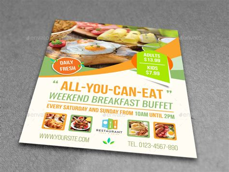 Breakfast Restaurant Flyer Template Vol 2 By Owpictures Graphicriver Breakfast Flyer Template