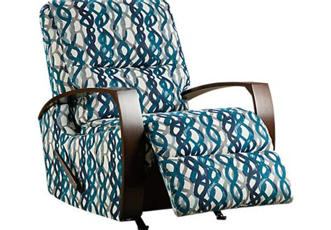 basque turquoise accent recliner reclining contemporary polyester