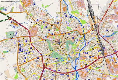map of the city of city maps olomouc
